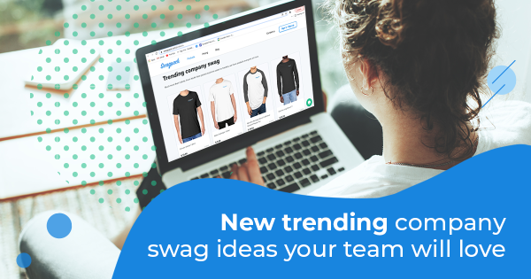 Women choosing trending company swag ideas for her employees