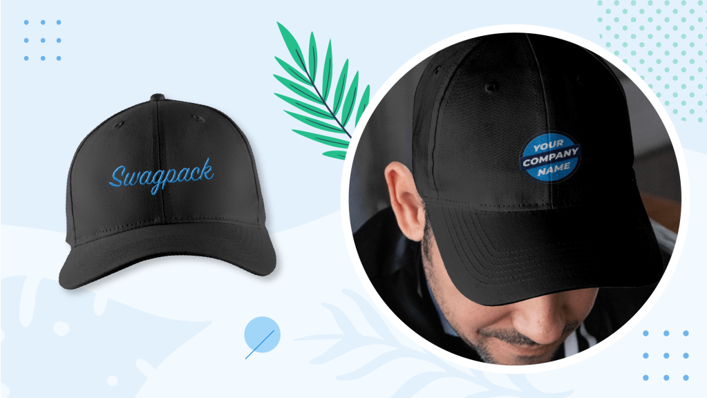 Man facing backward wearing a sturdy and durable brushed twill cap.